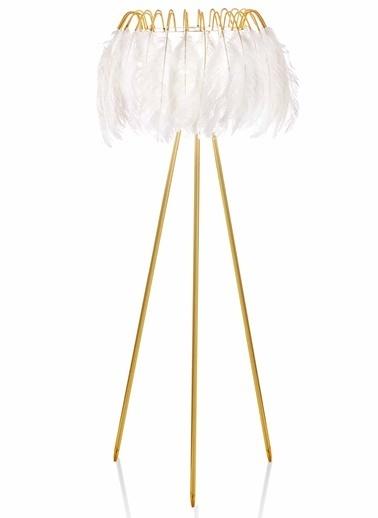 The Mia Kuş Tüyü Abajur 165 x 50 Cm Beyaz